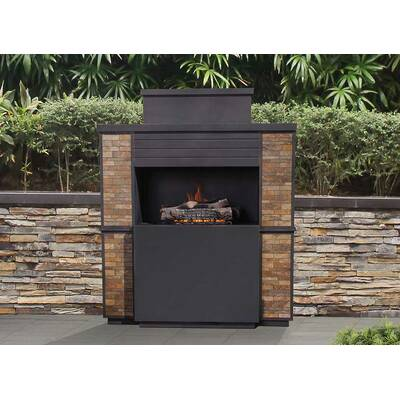 Sunjoy Hardy Slate Steel Wood Burning Outdoor Fireplace Reviews
