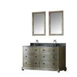 Reginald 60 Double Bathroom Vanity Set with Mirror by Millwood Pines