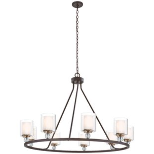 Gipe 9-Light Wagon Wheel Chandelier by Iv..