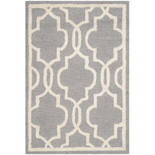 Adrien Hand Tufted Wool Silver/Ivory Rug by Longweave
