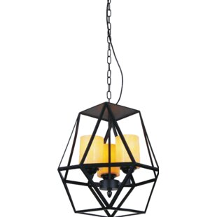 Trenton 6-Light Geometric Chandelier by CWI Lighting