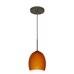 Lucia 1-Light Cone Pendant by Besa Lighting