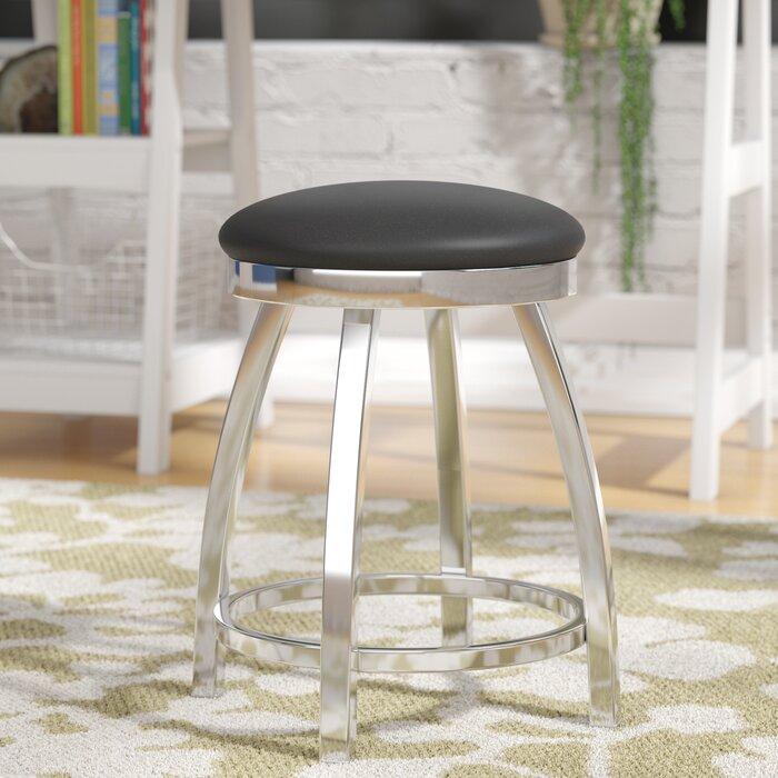 Stupendous Cragin Swivel Vanity Stool Andrewgaddart Wooden Chair Designs For Living Room Andrewgaddartcom