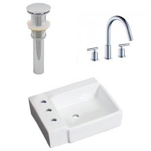 Best Price Ceramic 16.25 Bathroom Sink with Faucet ByRoyal Purple Bath Kitchen