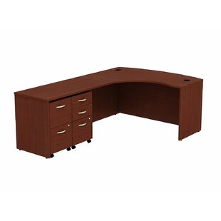 Purchase Series C Bow Front L-Shape Executive Desk By Bush Business Furniture