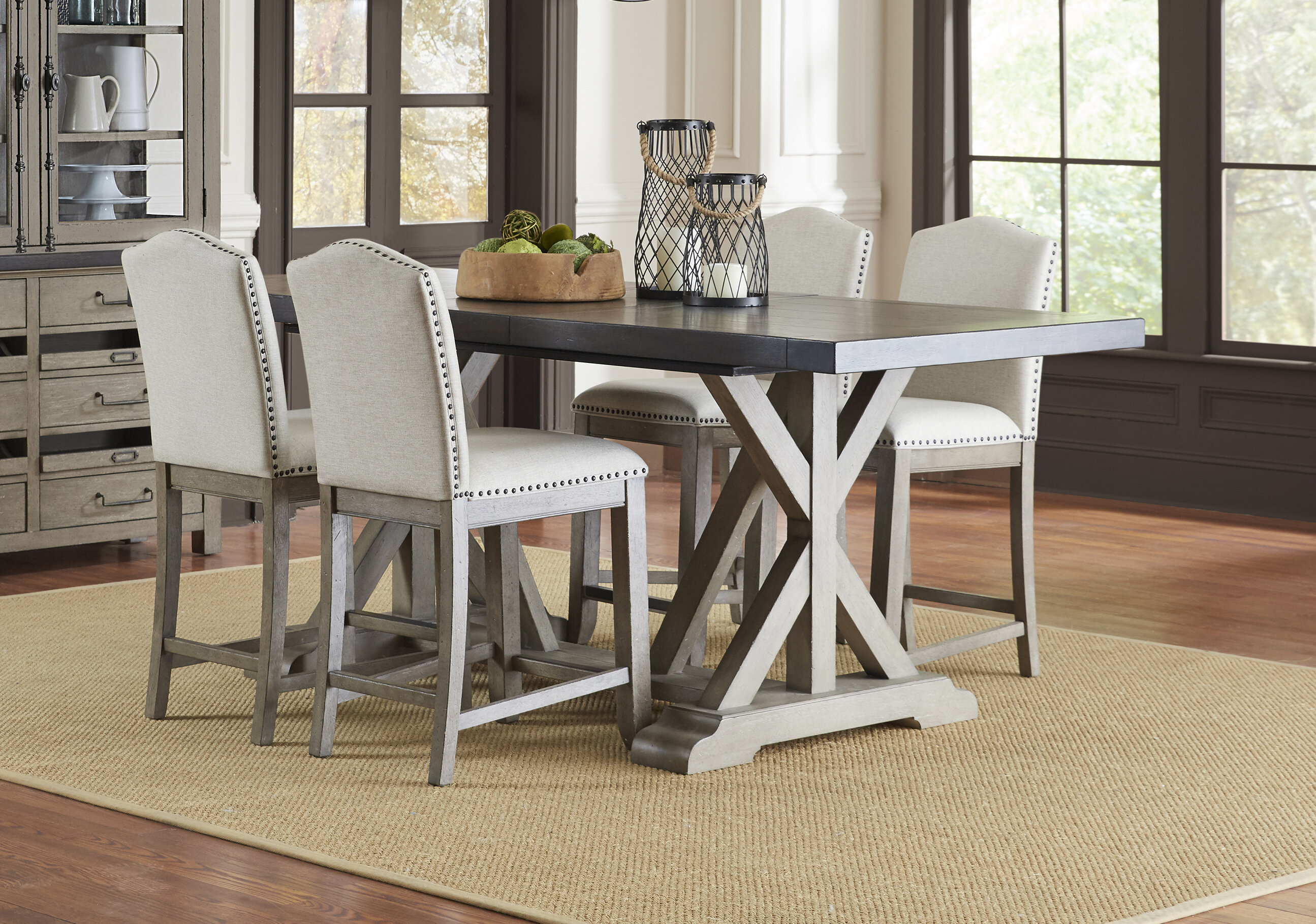Arballo 5 Piece Counter Height Extendable Dining Set