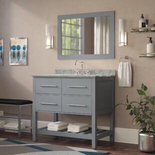 Find Cockrell 36 Single Bathroom Vanity Set with Mirror By Mercury Row