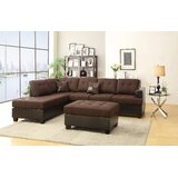 Silja 112 Reversible Sofa & Chaise with Ottoman by Winston Porter