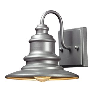 Bargain Griffin 1-Light Outdoor Metal Barn Light By Beachcrest Home
