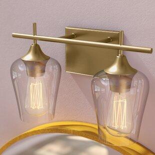 Brass bathroom vanity lighting youll love wayfair save aloadofball Choice Image