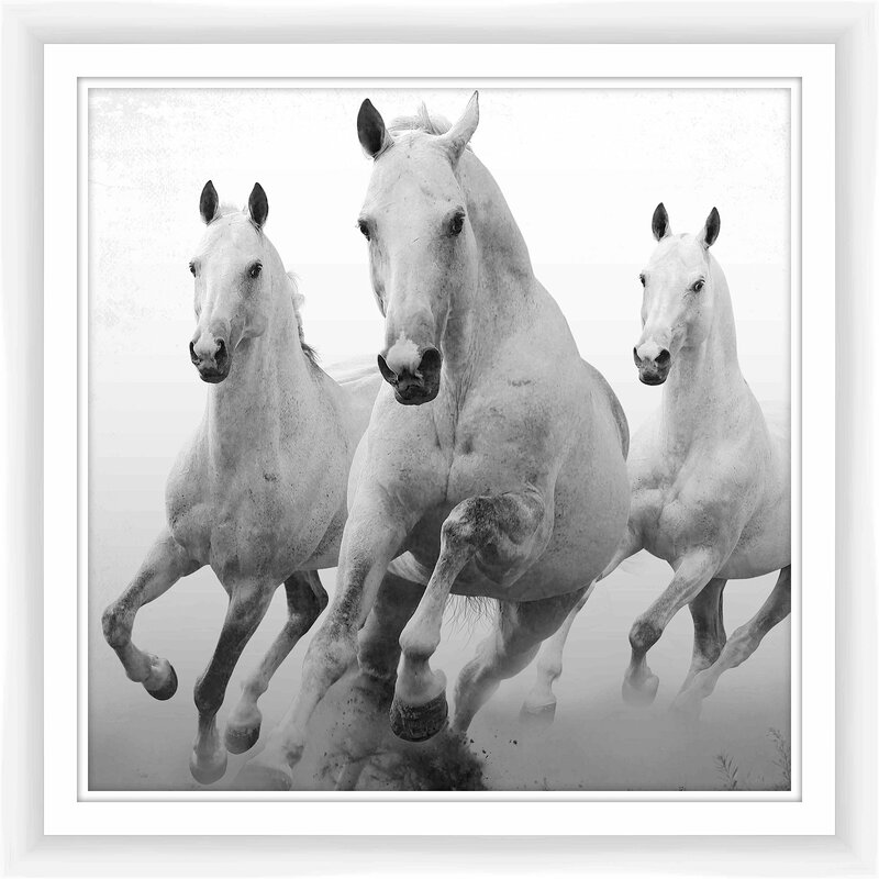 PTM Three Horses Framed Giclee Print | Wayfair
