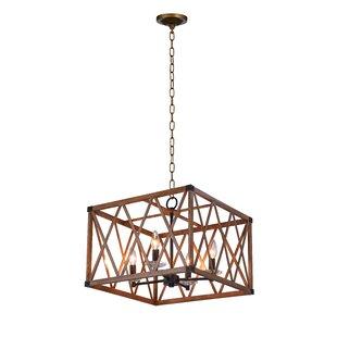 CWI Lighting Marini 4-Light Square Chandelier