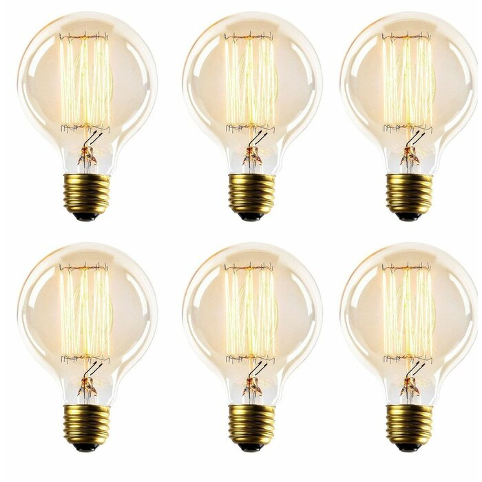 Thomas Edison Globe Incandescent Vintage Filament Light Bulb