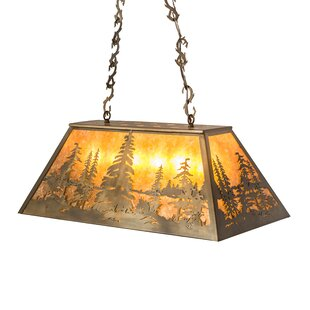 Meyda Tiffany Tall Pines Oblong 6-Light Pendant