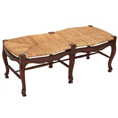 French Country Rush Seat Bench You Ll Love In 2019 Wayfair