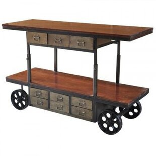 Lilliana Mango and Iron Bar Cart by Trent Austin Design