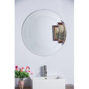 Bellaterra Home Round Frameless Bathroom/Van..