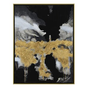 'Smoke' Framed Painting Print on Canvas