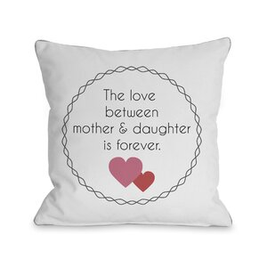 Love Between Mother and Daughter Throw Pillow