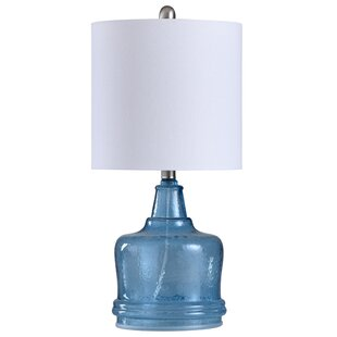 Searching for Millicent Glass Base 23 Table Lamp By Highland Dunes