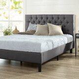 Tufted Upholstered Low Profile Platform Bed by ZINUS-White-Label