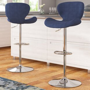 Nuttall Adjustable Height Swivel Bar Stool (Set of 2) by Orren Ellis