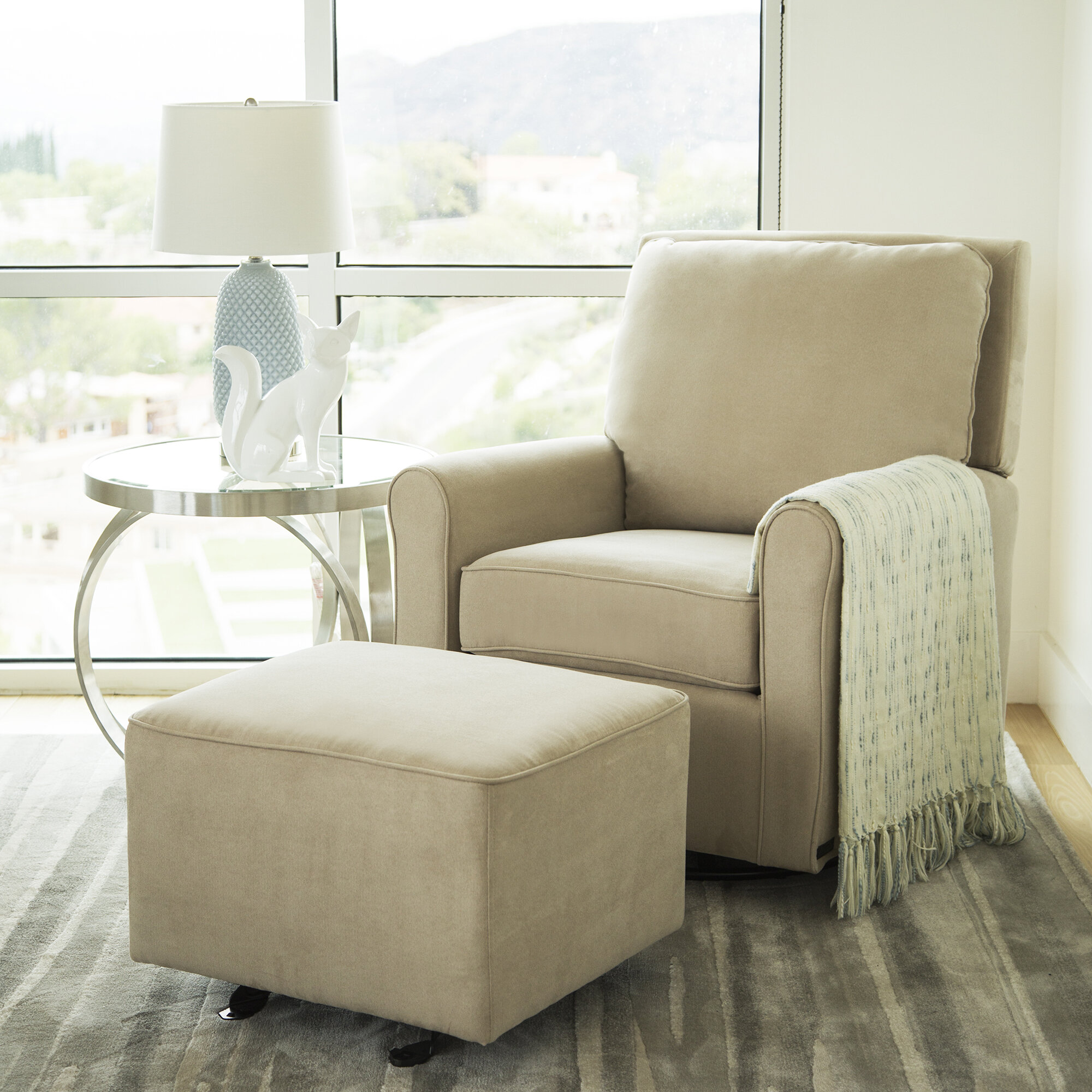 Pleasant Barnwell Swivel Glider And Ottoman Lamtechconsult Wood Chair Design Ideas Lamtechconsultcom