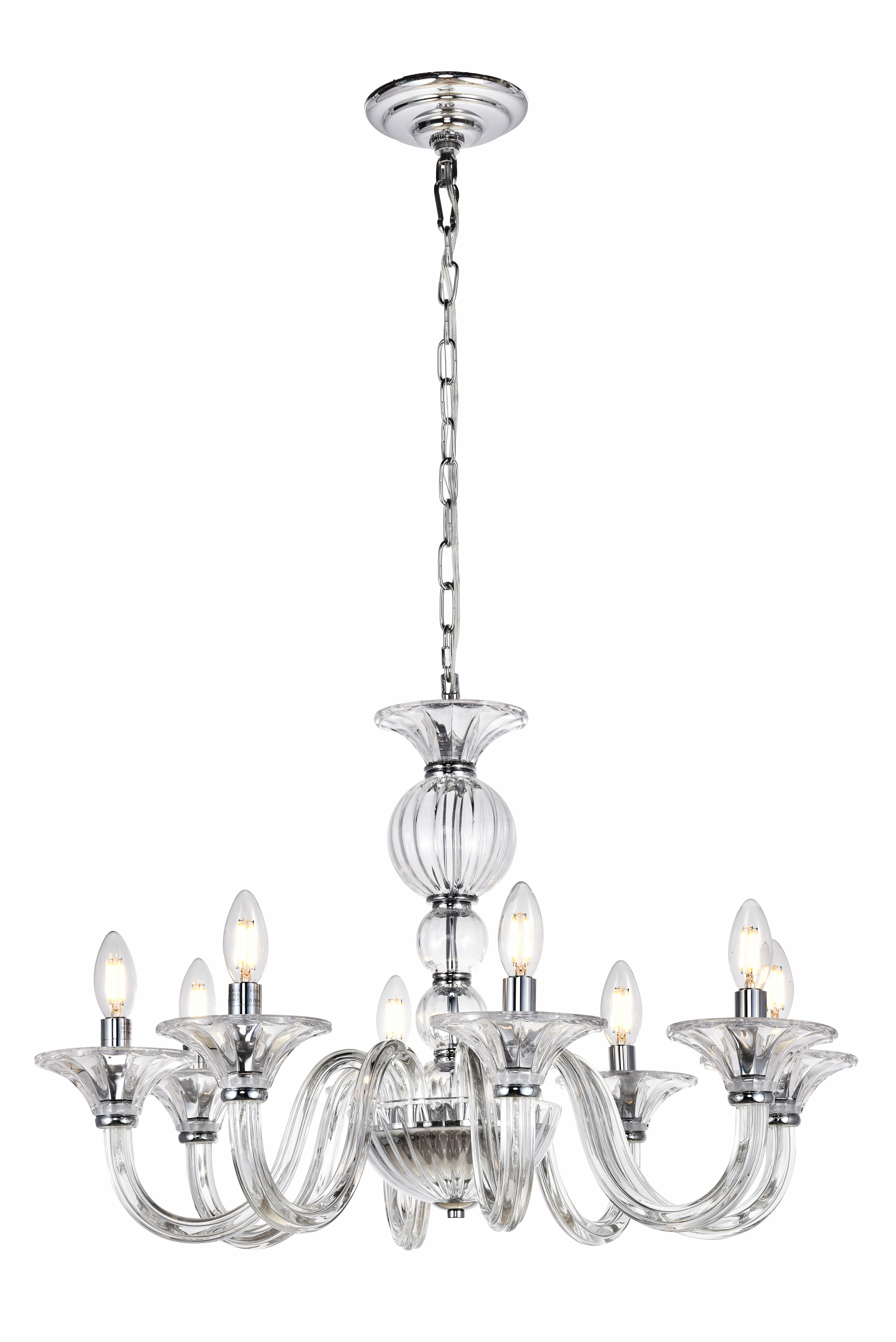 House Of Hampton Brompton 8 Light Candle Style Chandelier Reviews Wayfair Ca