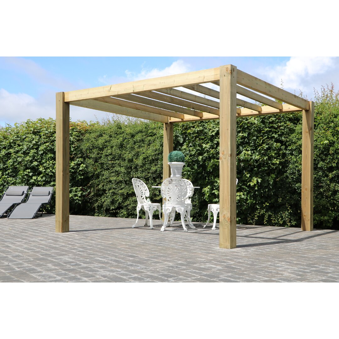 The Cube Garden 2.1m x 3.0m x 2.7m Solid Wood Pergola