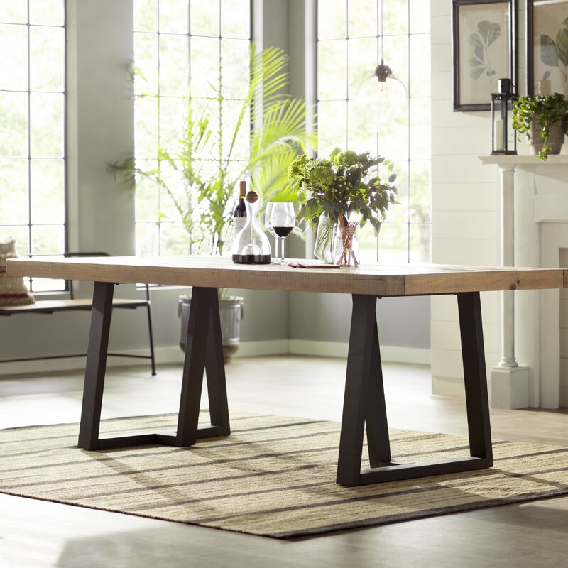 T J Solid Wood Dining Table