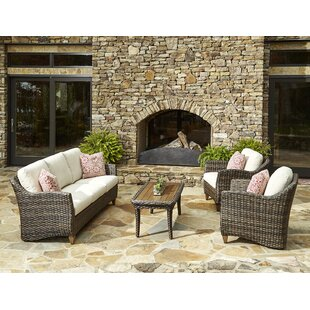 Klaussner Furniture Sycamore 4 Piece Sunbrella Sofa Set with Cushions