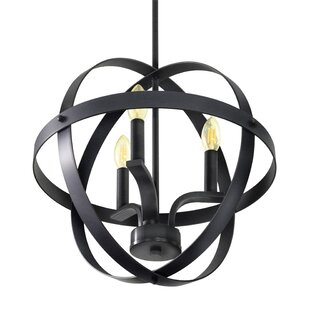 Gracie Oaks Aleria 3-Light Globe Chandelier