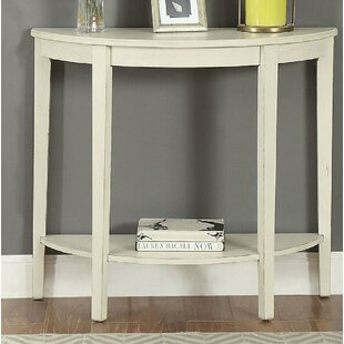 Elonso Half Moon Wooden Console Table by Highland Dunes