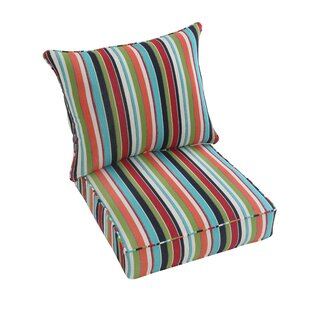 Rosecliff Heights Carousel Confetti Indoor/Outdoor Sunbrella Lounge Chair Cushion