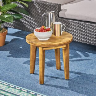 Matsumura Solid Wood Side Table by Union Rustic