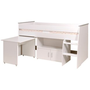 Dempsey Midsleeper Twin Bed with Bookcase by Zoomie Kids