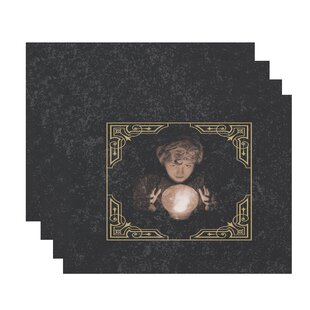 Maser All Seeing Psychic Halloween 18 Placemat (Set of 4) by The Holiday Aisle