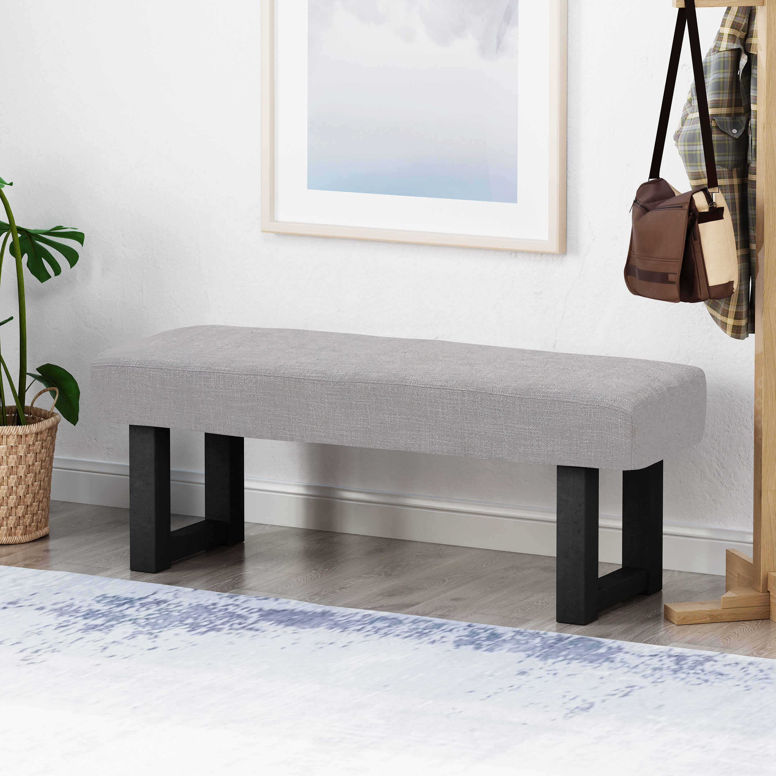 Ebern Designs Areonia Upholstered Bench Reviews Wayfair