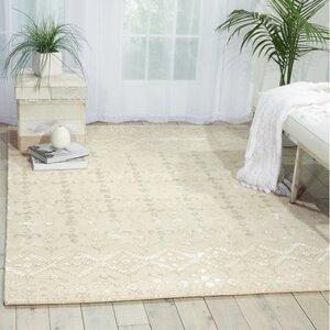 Darroll Ivory Wool Area Rug