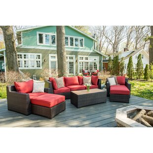 Darden 8 Piece Sofa Seating Group with Cushions by Rosecliff Heights