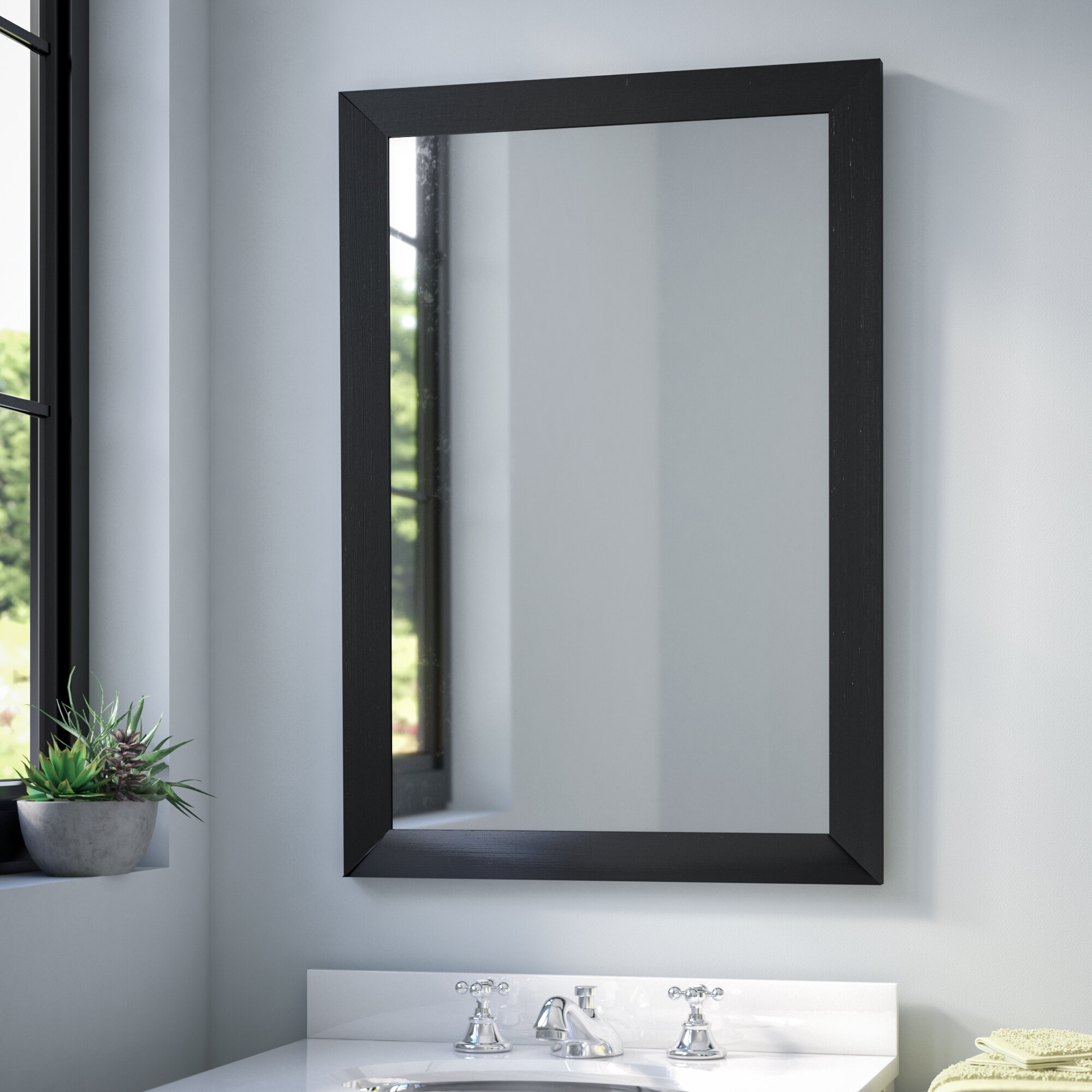 Wade Logan Industrial Modern Contemporary Wall Mirror Reviews Wayfair