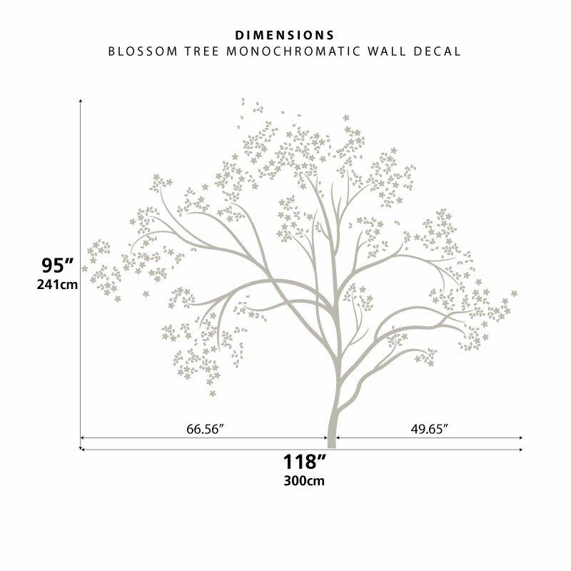 Littlelion Studio Blossom Tree Monochromatic Wall Decal Wayfair