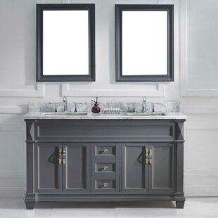 Kace 61 inch  Double Bathroom Vanity Set with Mirror