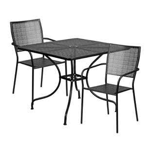 Sperber Outdoor Steel 3 Piece Dining Set ..