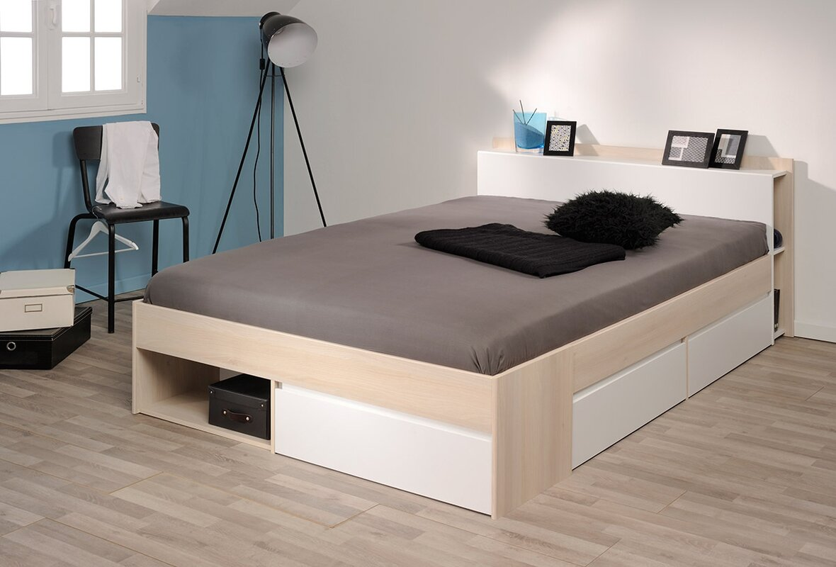 Queen storage platform bed - Default_name