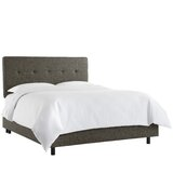 Harney Five Button Upholstered Standard Bed by Ivy Bronx