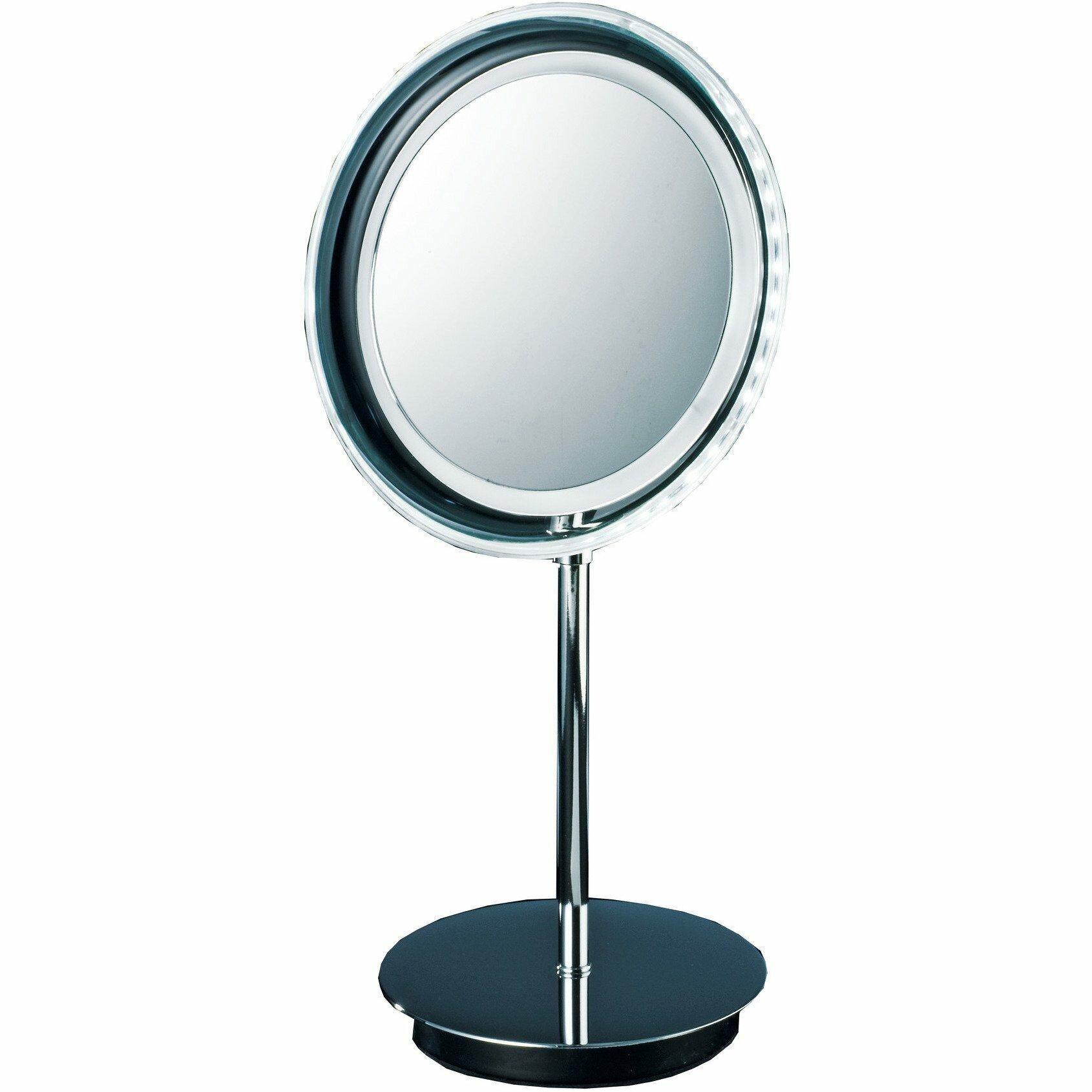 Symple Stuff Korman Round Led Makeup Shaving Mirror