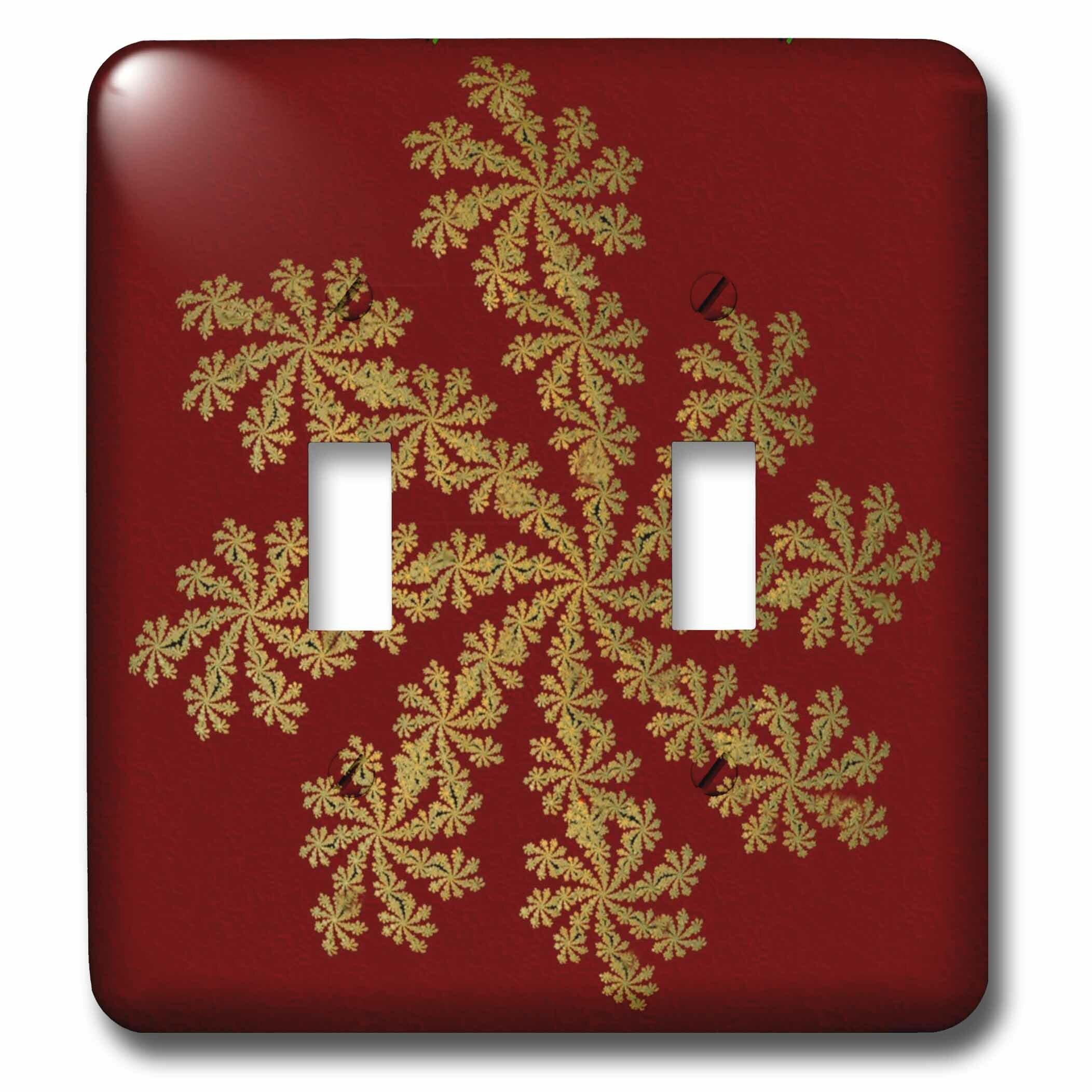 3drose Snowflake 2 Gang Toggle Light Switch Wall Plate Wayfair