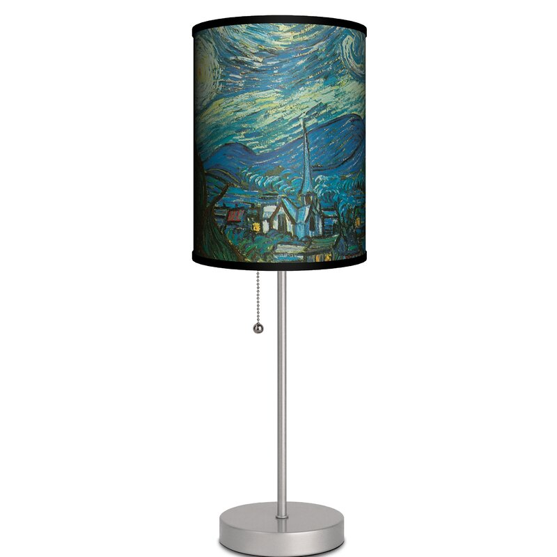 Ebern Designs Pankratz Starry Night By Vincent Van Gogh 19 Table Lamp Wayfair