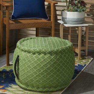 Nashwauk Geometric Indoor/Outdoor Pouf by Wrought Studio